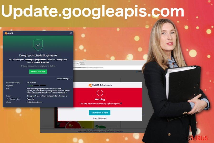 Le pop upUpdate.googleapis.com