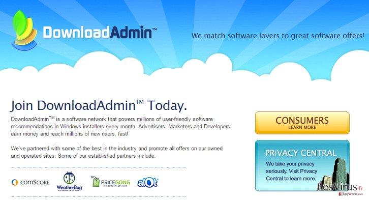 UpdateAdmin adware instantané