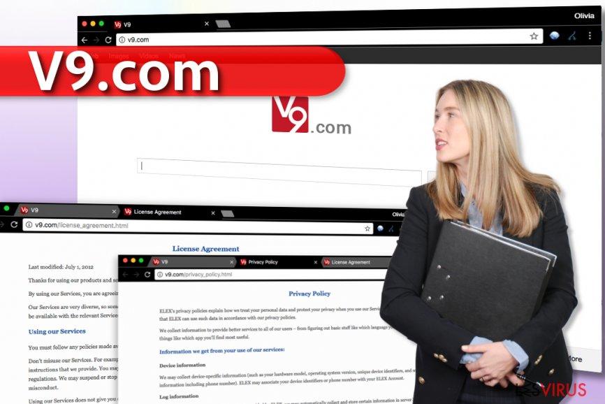 Le virus v9.com instantané