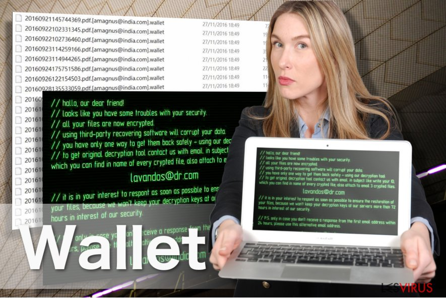 Illustration du virus rançongiciel Wallet