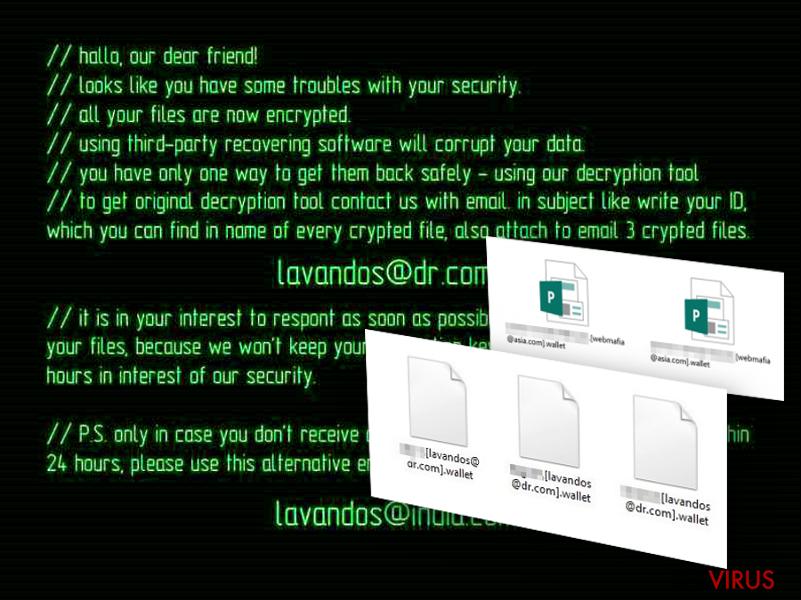 Le virus rançongiciel Wallet instantané