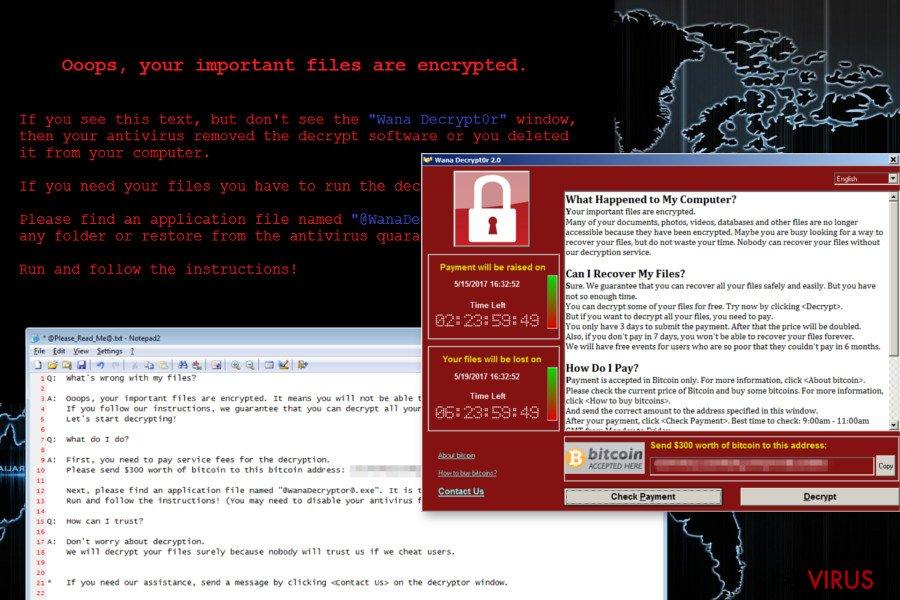 Le virus rançongiciel Wana Decrypt0r
