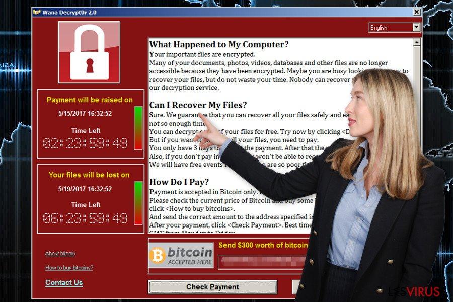 Le rançongiciel Wana Decrypt0r