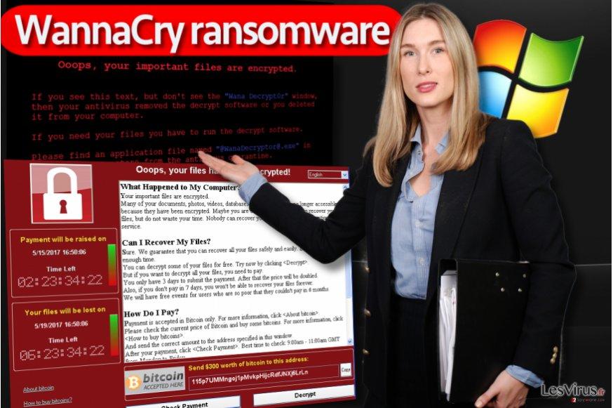 Le virus rançongiciel WannaCry