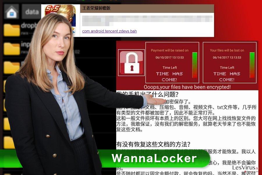 Une représentation du virus rançongiciel WannaLocker