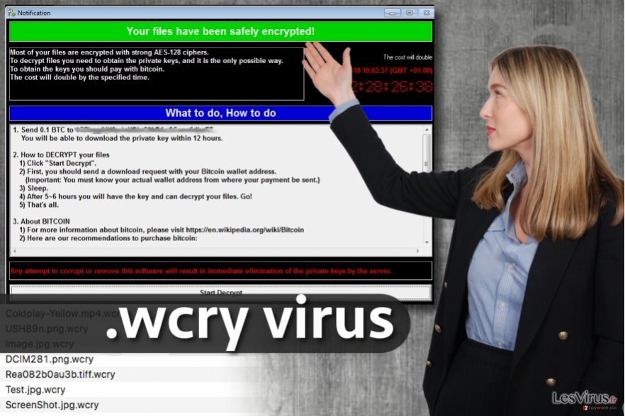 le virus d'extension de fichier .wcry