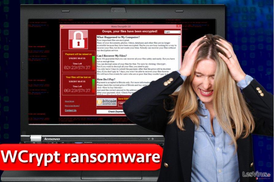 Le virus rançongiciel WCrypt