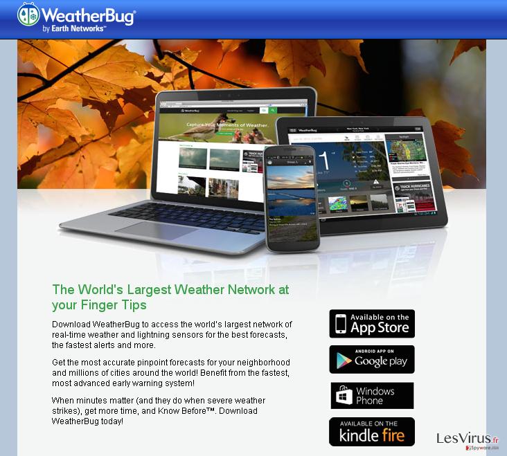 Annonces de WeatherBug instantané