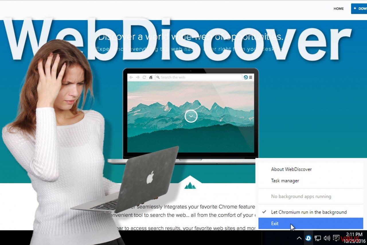 Illustration du Navigateur WebDiscover