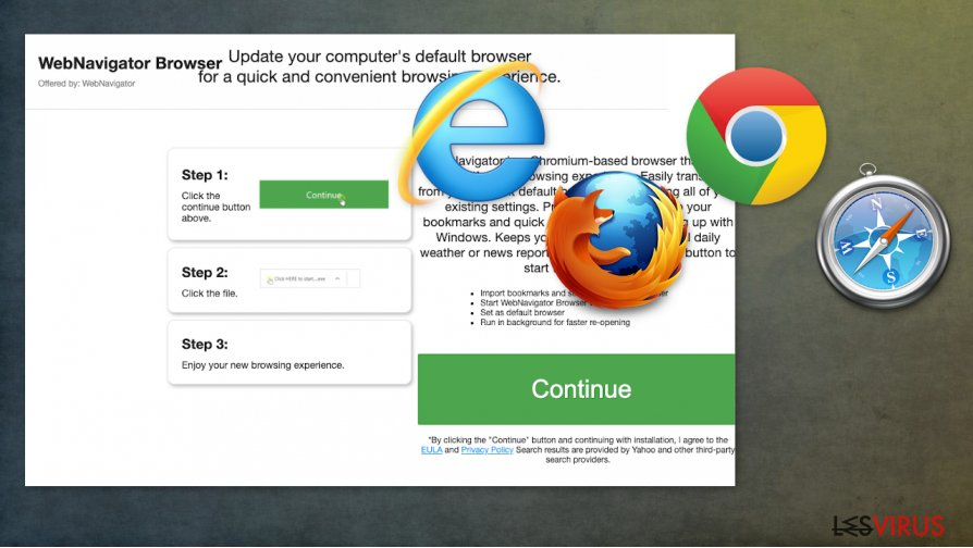 Pirate de navigateur WebNavigatorBrowser