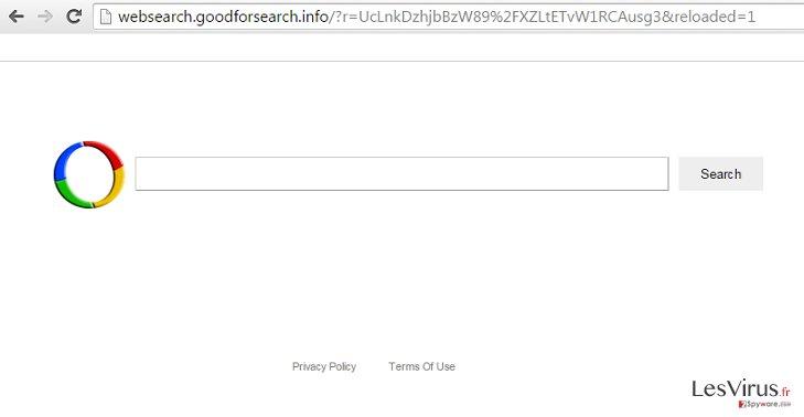 Websearch.goodforsearch.info virus instantané