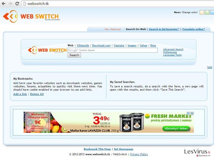 Webswitch.tk hijack instantané