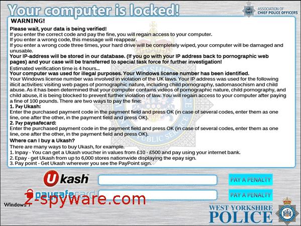 West Yorkshire Police Ukash instantané
