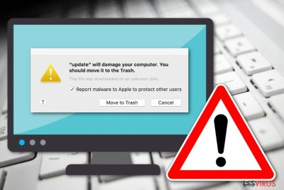 Le message «Will damage your computer. You should move it to the Trash»