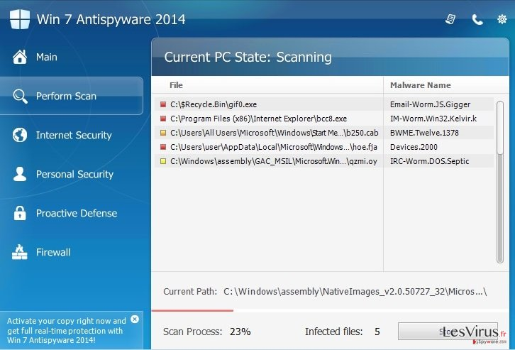 Win 7 Antispyware 2014 instantané
