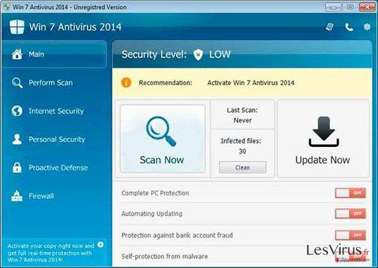 Win 7 Antivirus 2014 instantané