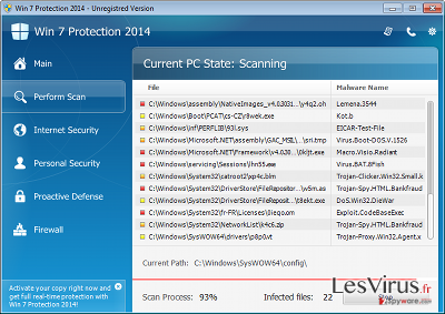 Win 7 Protection 2014 instantané