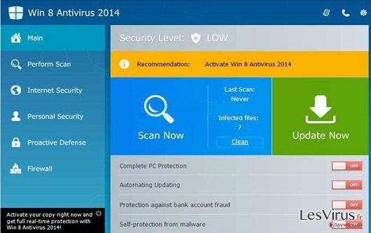 Win 8 Antivirus 2014 instantané