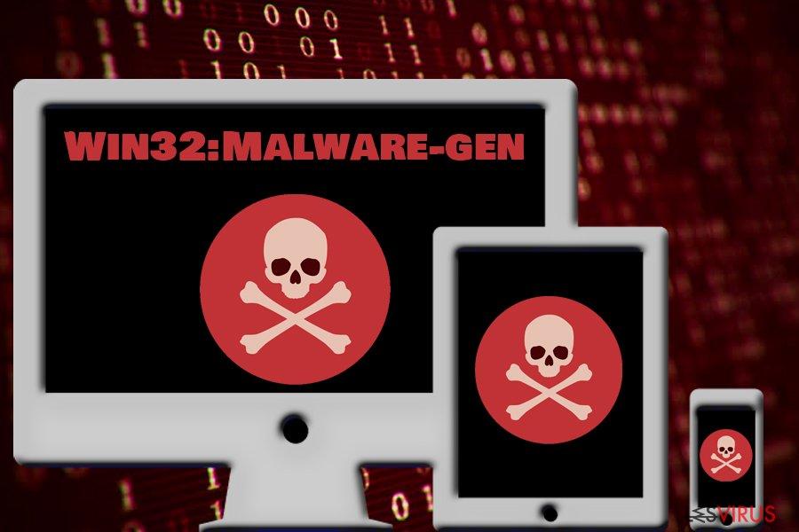 le cheval de Troie Win32:Malware-gen