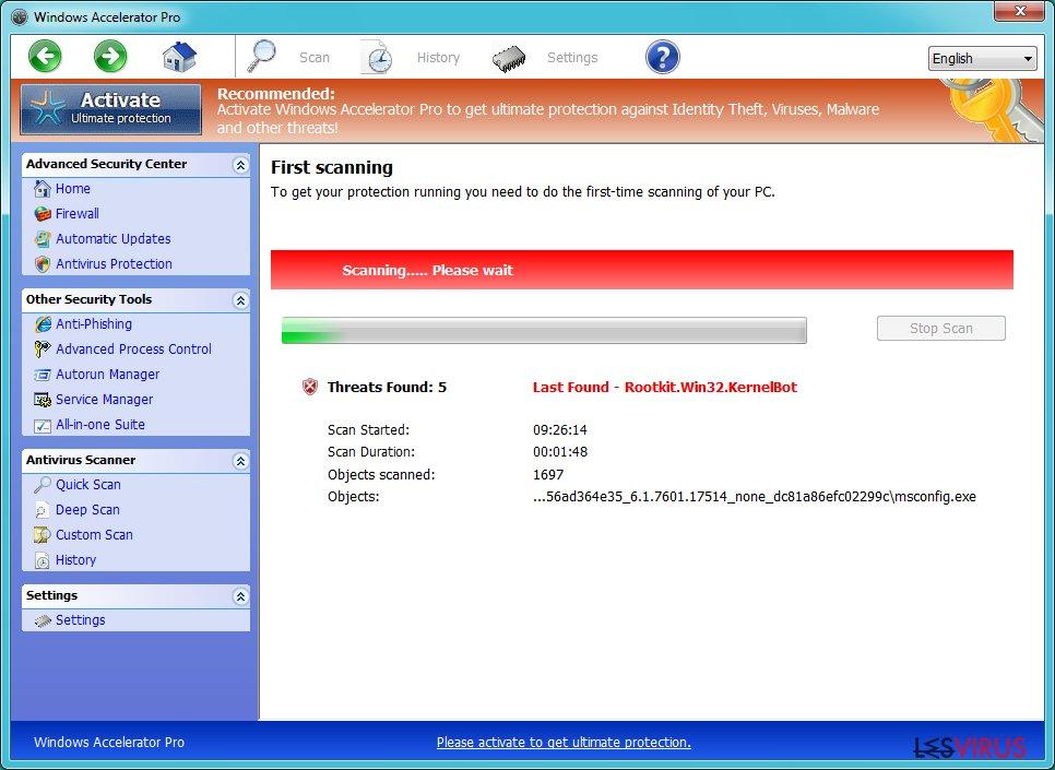 Windows Accelerator Pro instantané