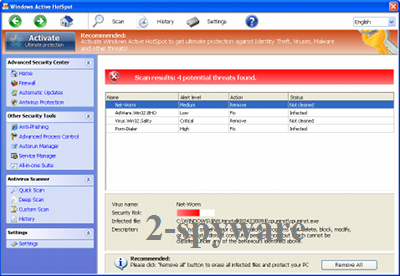 Windows Active HotSpot instantané