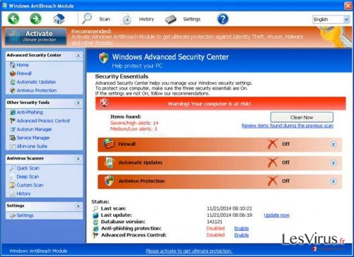 Windows AntiBreach Module instantané