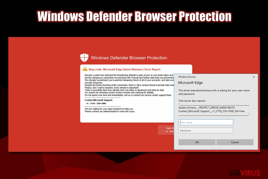 L'écran rouge de Windows Defender Browser Protection