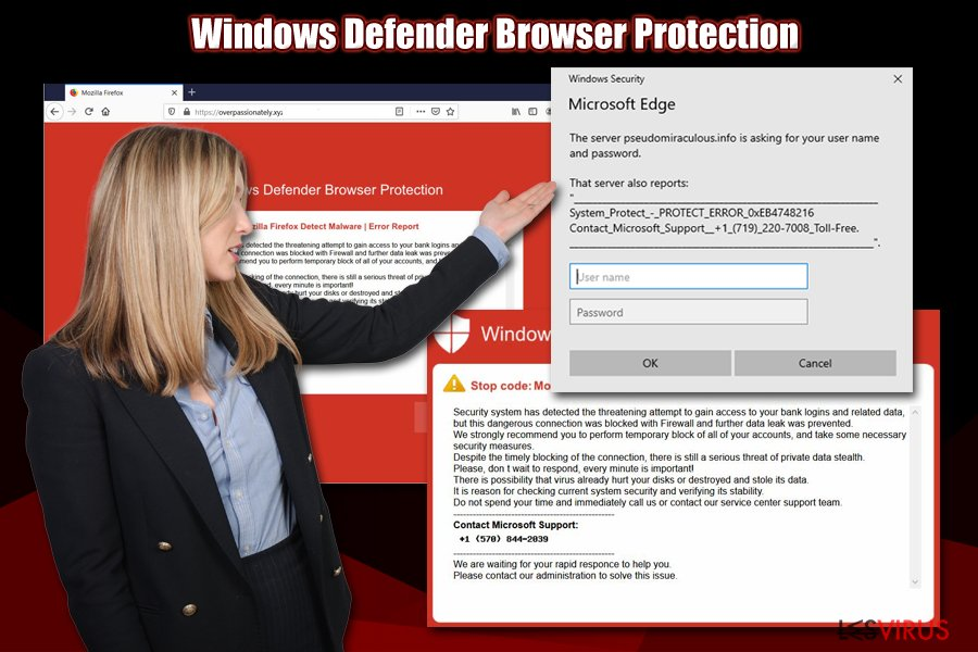 L'escroquerie Windows Defender Browser Protection