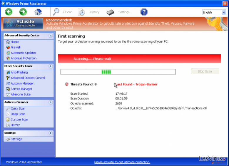 Windows Prime Accelerator instantané