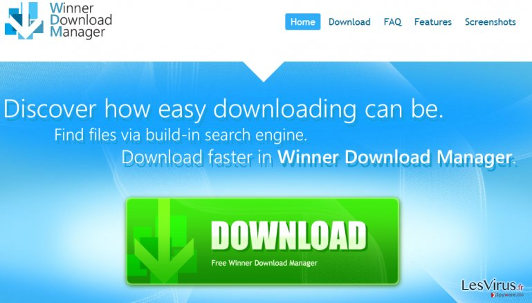 Winner Download Manager instantané