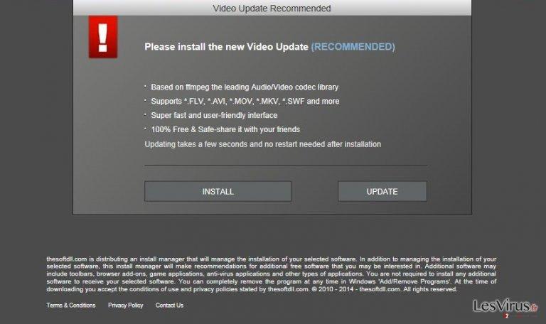 WinUpdateVideos.com pop-up ads instantané