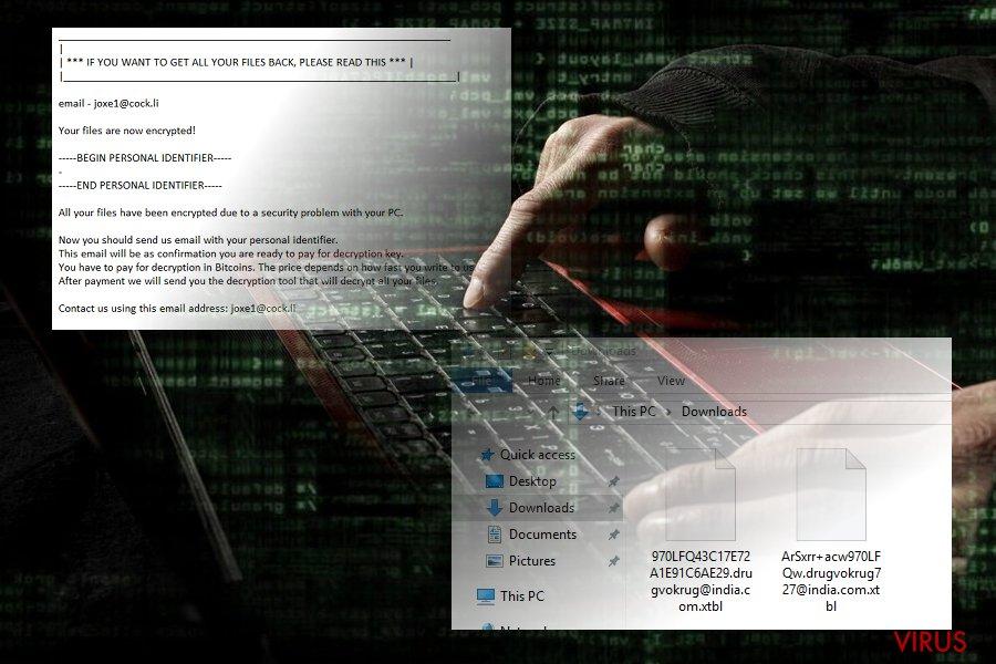 Le  virus .xtbl instantané