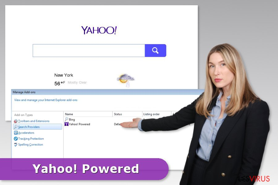 Un exemple du piratage par Yahoo Powered