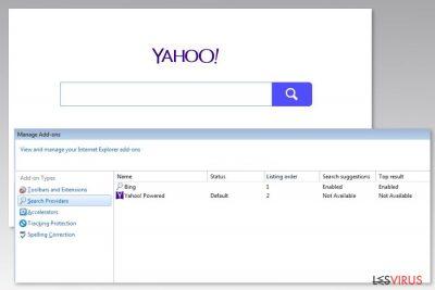Image du virus Yahoo Powered