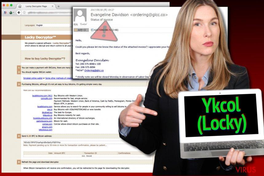 Le virus Locky se fait maintenant appeler Ykcol