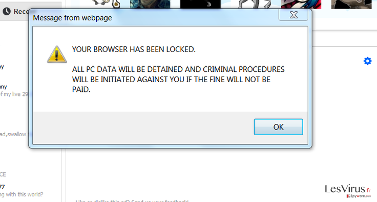 Your browser has been locked instantané