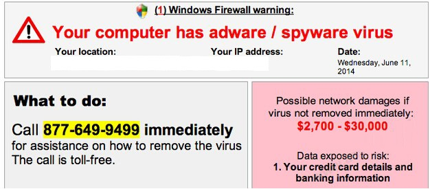 Your computer has adware / spyware virus instantané
