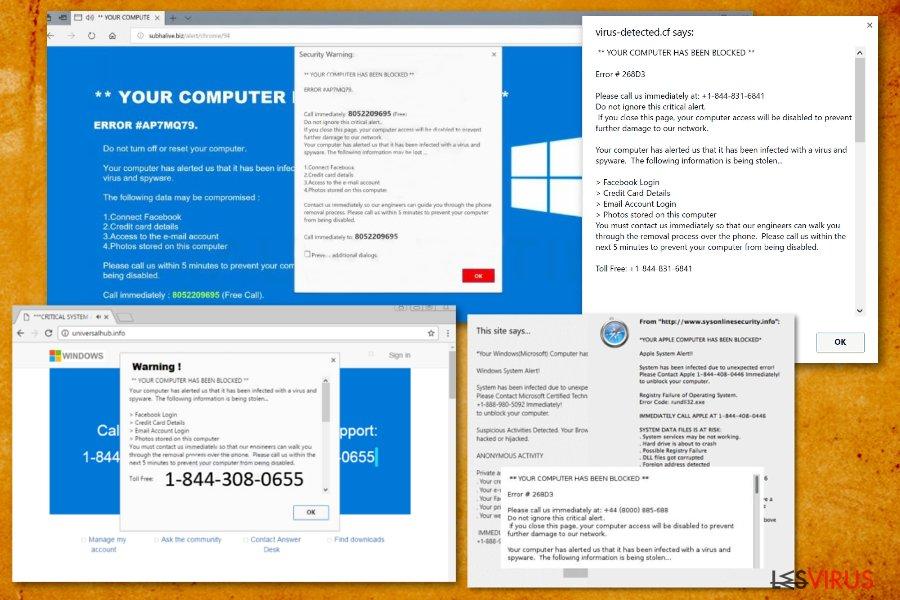 """""""Votre ordinateur a été bloqué"""" instantané"""