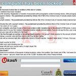Your computer has been locked instantané