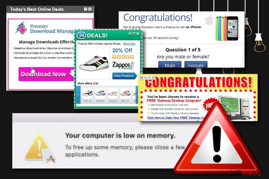 Le virus « La mémoire de votre ordinateur est insuffisante »