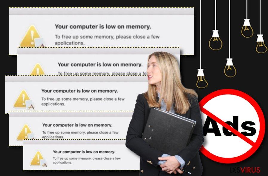 L'adware « La mémoire de votre ordinateur est insuffisante»