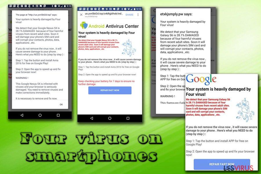 le virus Four sur Android et iPhone