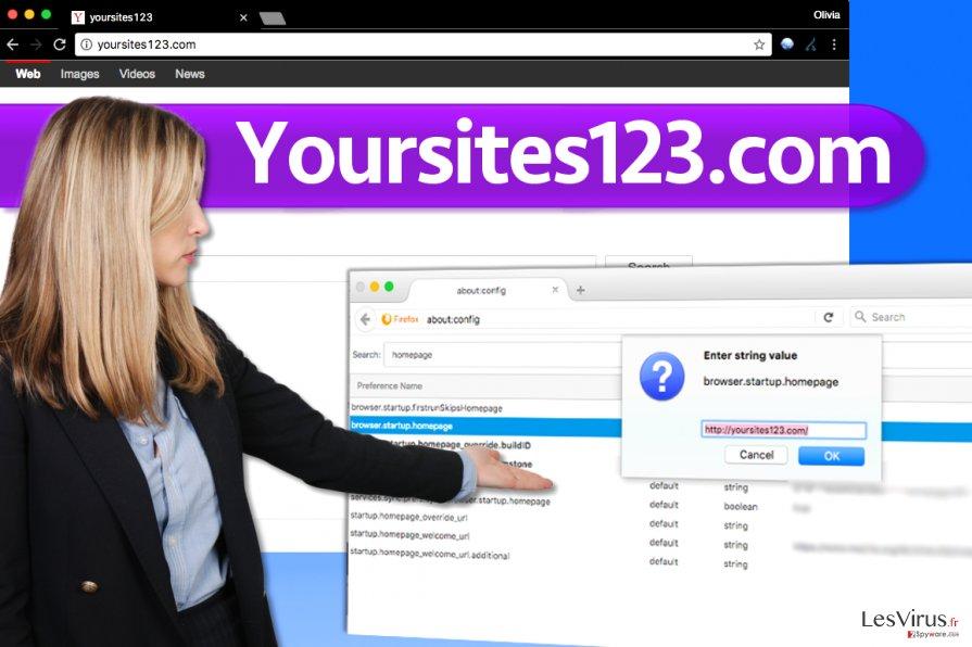 Le virus YourSites123.com instantané