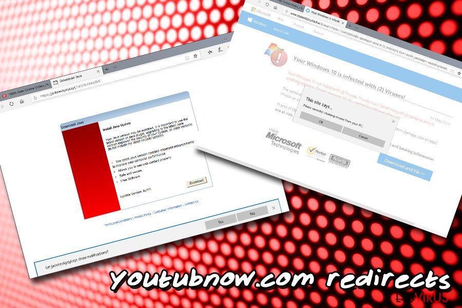 les réorientations Youtubnow.com