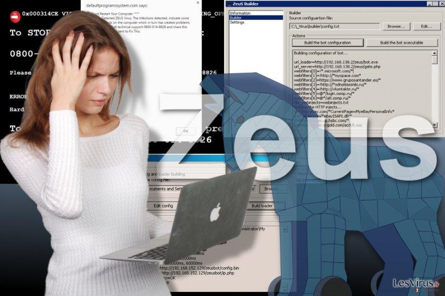 Illustration du virus Zeus