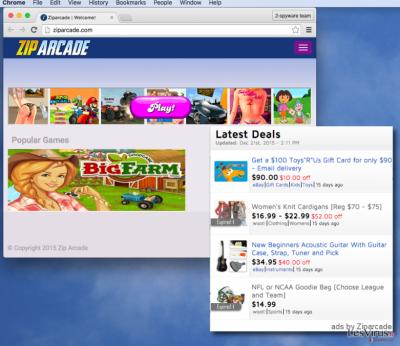 Zip Arcade ads