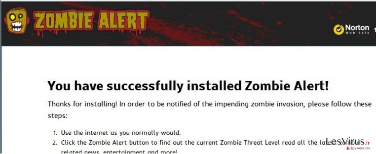 Zombie Alert virus instantané