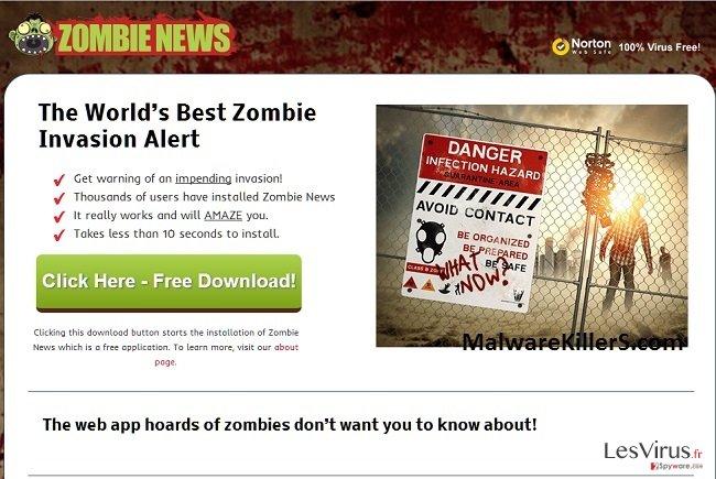 Zombie News adware instantané